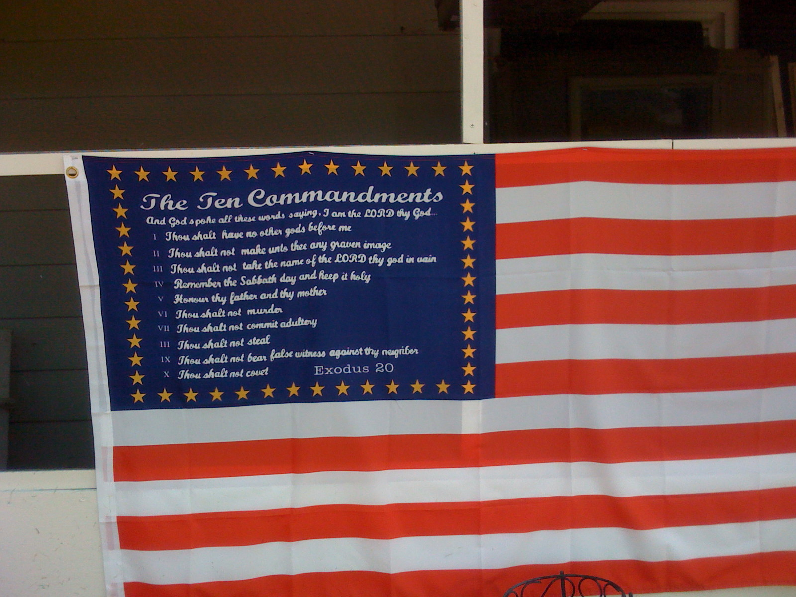 Ten Reformed Commandments flag
